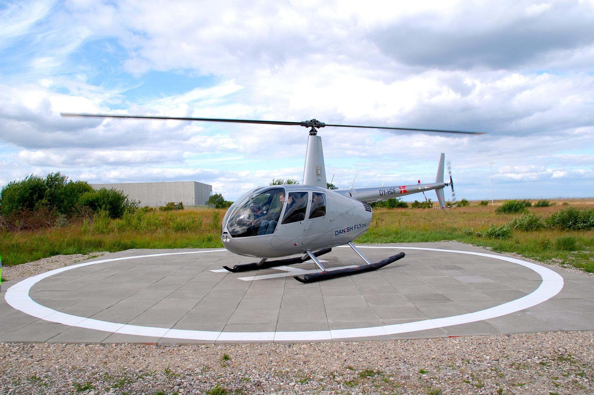 Helikoptertur over Roskilde med Danish Fly