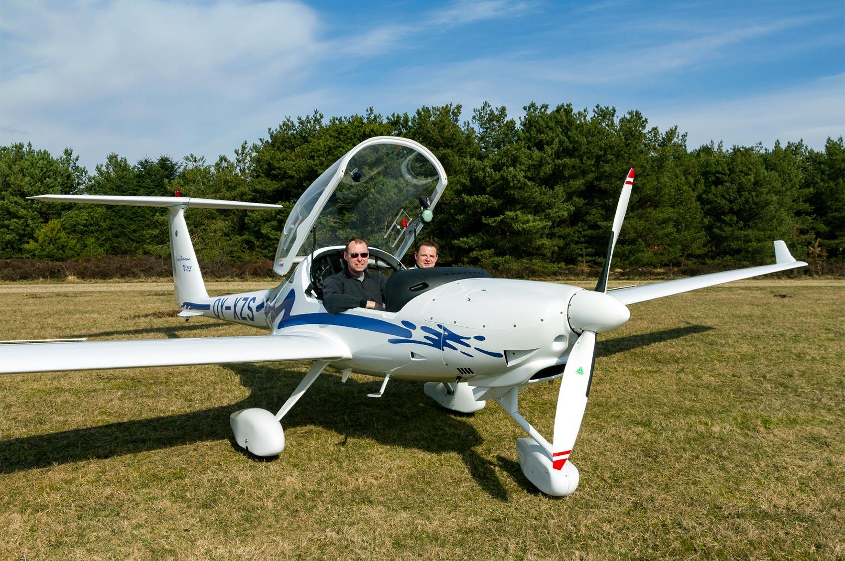 Sightseeing med motorsvævefly hos Herning Svæveflyveklub
