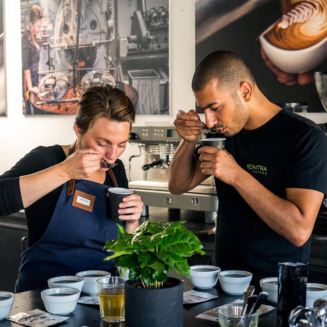 Kaffekursus hos Kontra Coffee