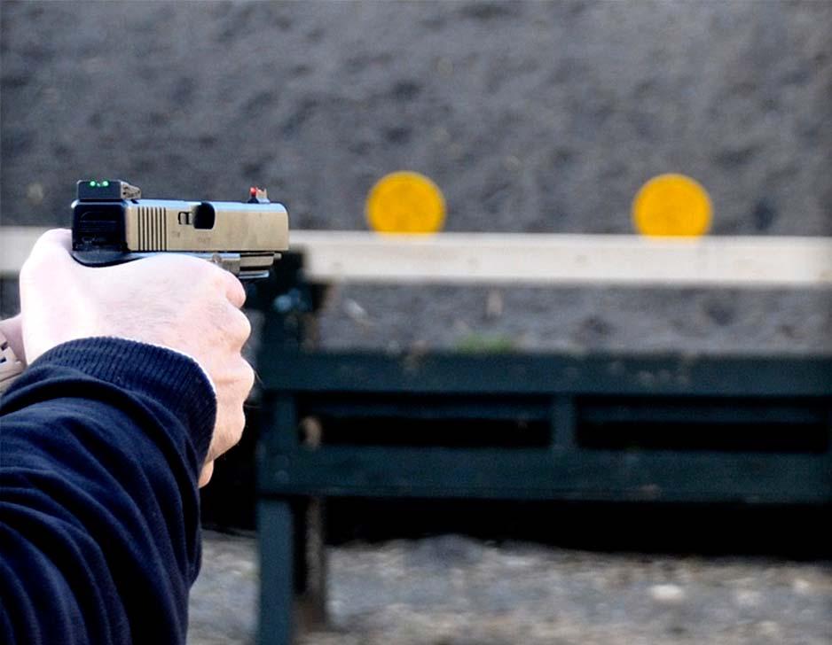 Prøv pistolskydning hos Gunsport