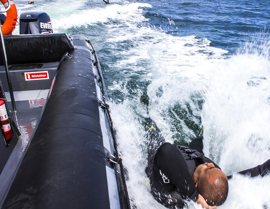 Watercast fra RIB-båd med Mai-Event