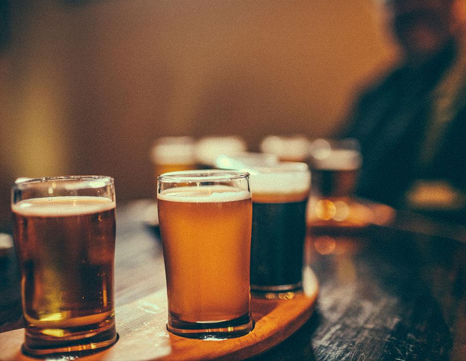 Ølsmagning hos Highlanders Bar